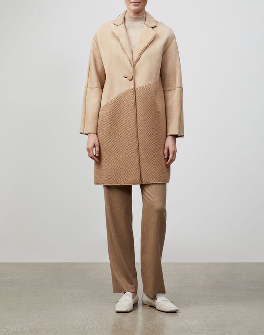 Lightweight Merino Shearling Donya Coat