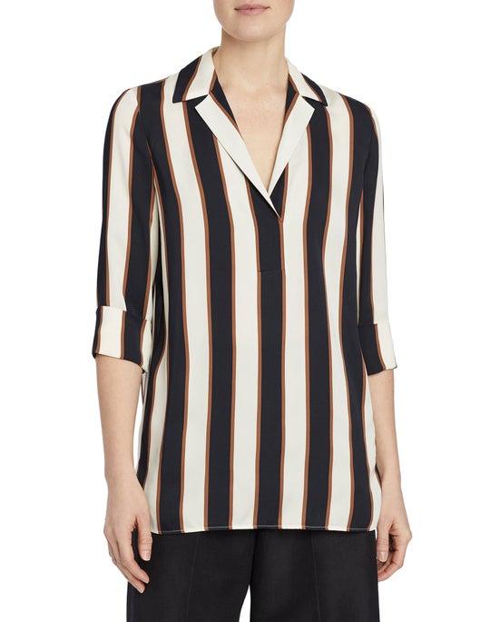 Seaside Stripe Drape Cloth Mela Blouse