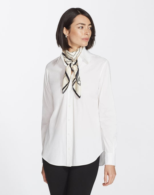 Plus-Size Italian Stretch Cotton James Blouse