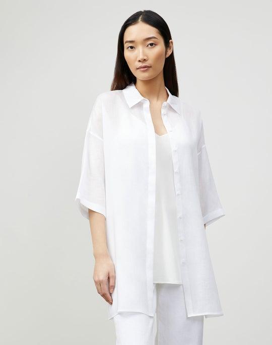 Petite Saylor Blouse In Gemma Cloth