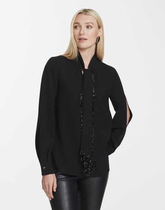 Finesse Crepe Genevive Blouse