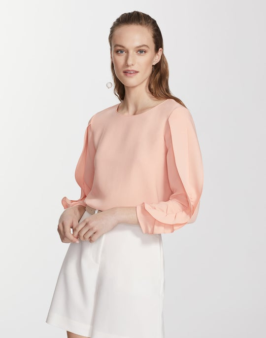 Finesse Crepe Perrin Blouse