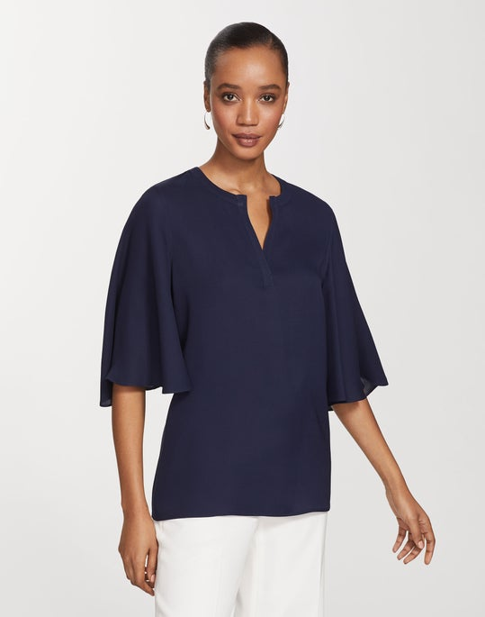 Silk Double Georgette Barker Blouse