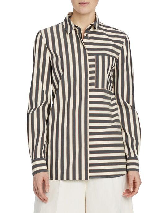 Seaside Cotton Stripe Ruxton Shirt