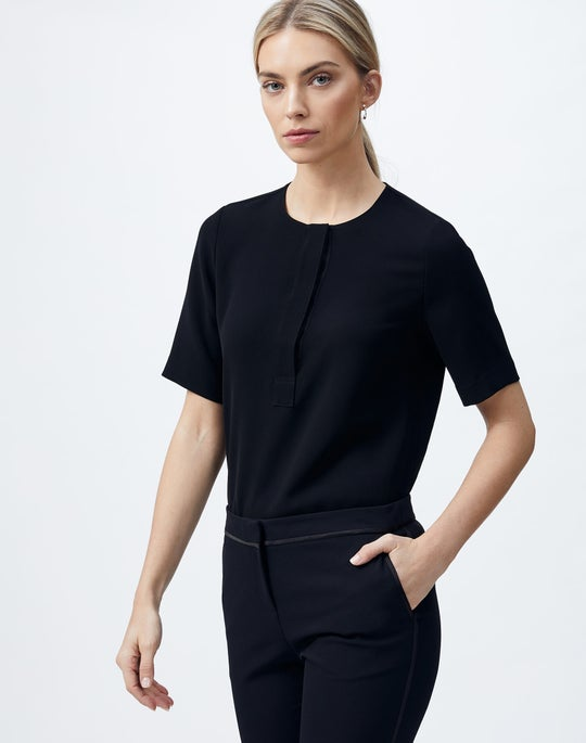 Finesse Crepe Topher Blouse