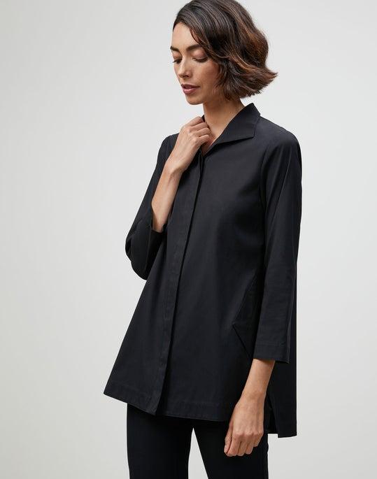 Plus-Size Italian Stretch Cotton Marla Shirt
