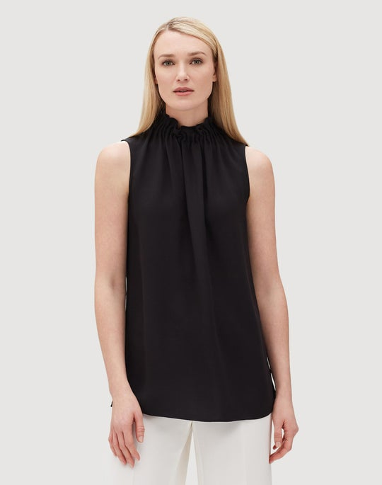 Silk Double Georgette Percy Blouse