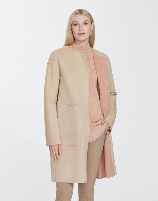 Two-Tone Double-Face Reversible Andressa Coat