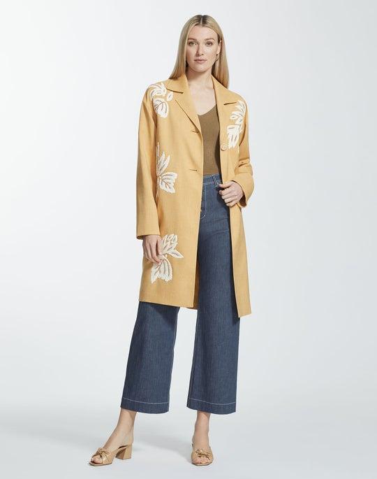 Plus-Size Adriatic Weave Myer Coat