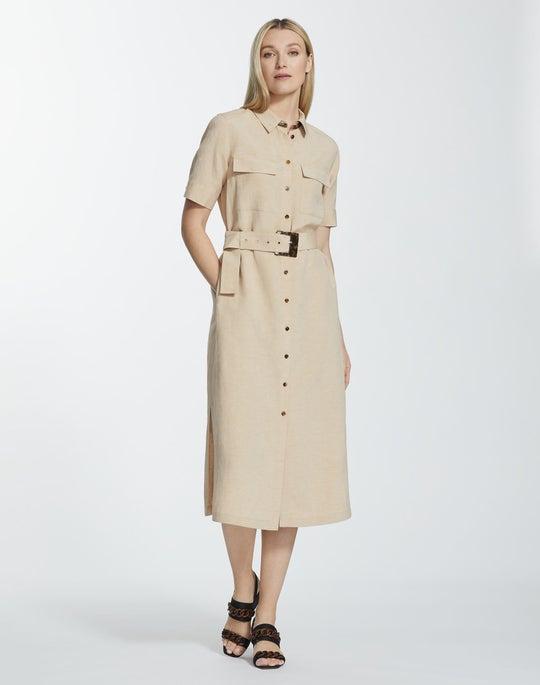 Charismatic Cloth Short Sleeve Doha Shirtdress