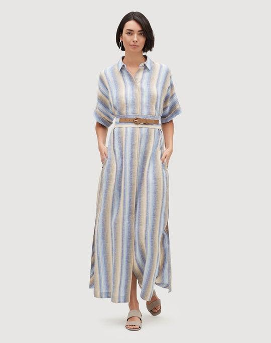 Skyscape Stripe Retha Shirtdress