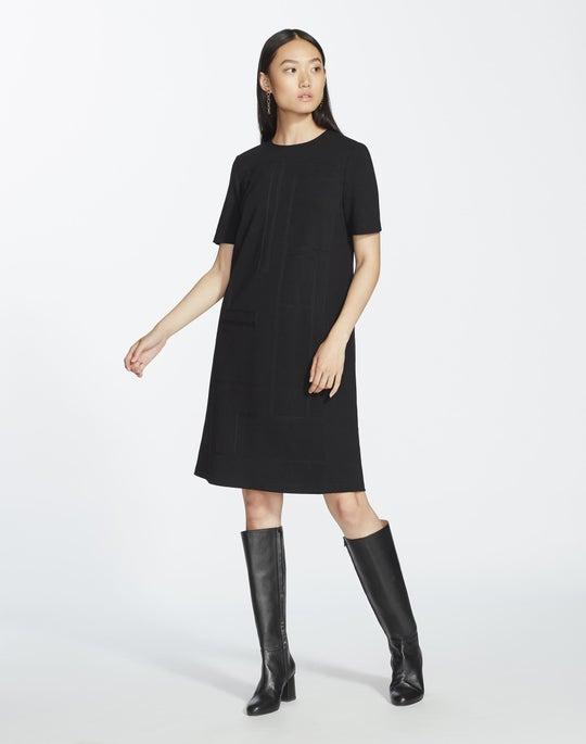 Petite Punto Milano Jacinthia Dress