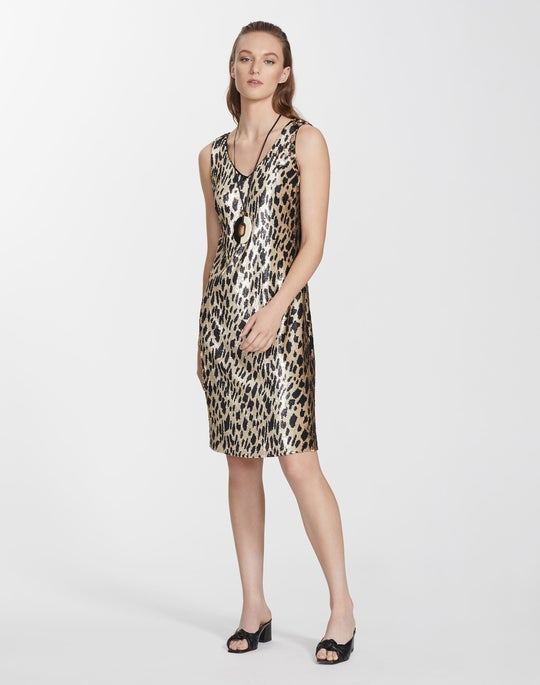 Leopard Sequin Laurie Dress