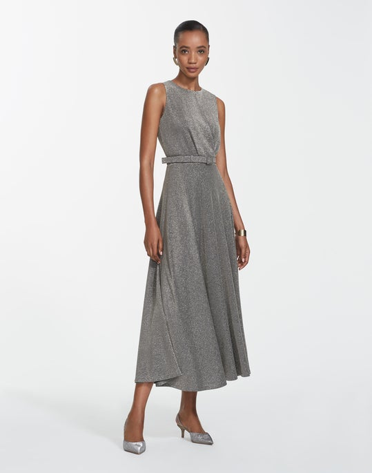 Metallic Pique Amalia Dress