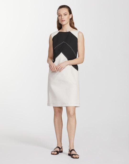 Plus-Size Italian Gabardine Hyde Dress