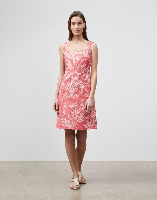 Bower Print On Linen Spencer Dress