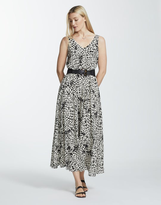 Cheetah Print Silk Memphis Dress