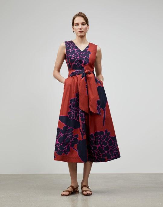 Hydrangea Print Vienna Dress
