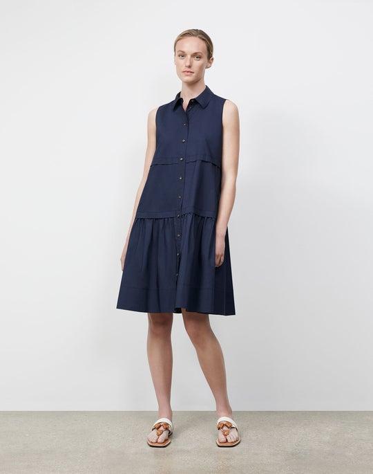 Crisp Cotton Poplin Serena Dress