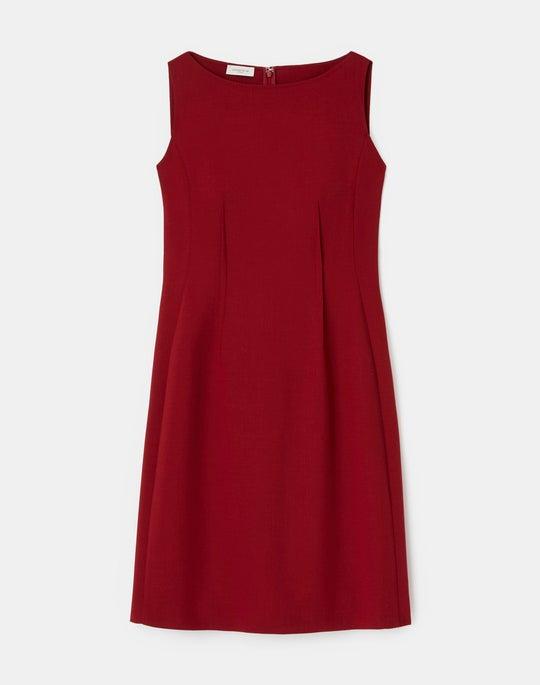Luxe Italian Double Face Cassie Sheath Dress
