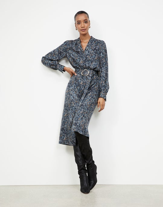 Marble Jacquard Clementine Dress