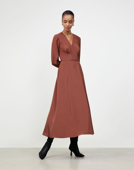 Luxe Stretch Crepe De Chine Somerby Dress
