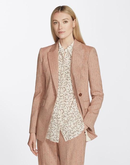 Petite Speckled Herringbone Heather Jacket