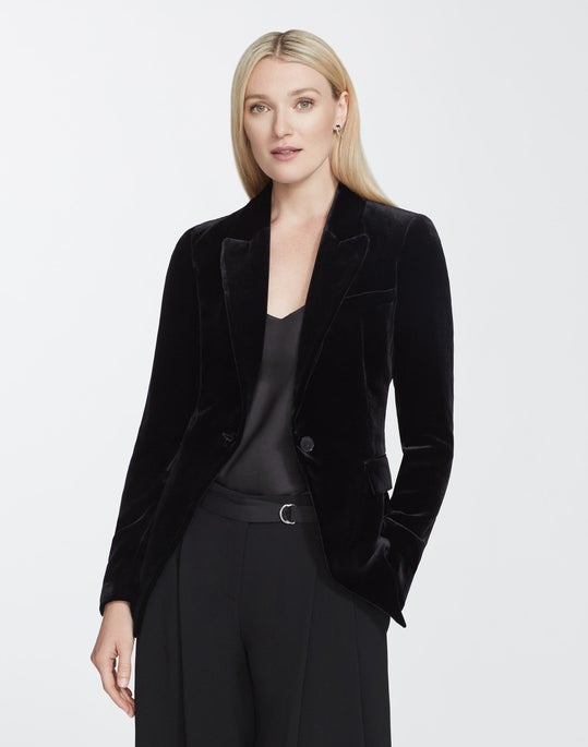 Petite Classic Velvet Heather Jacket