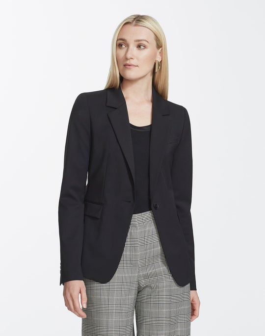 Plus-Size Italian Stretch Wool Trixie Jacket