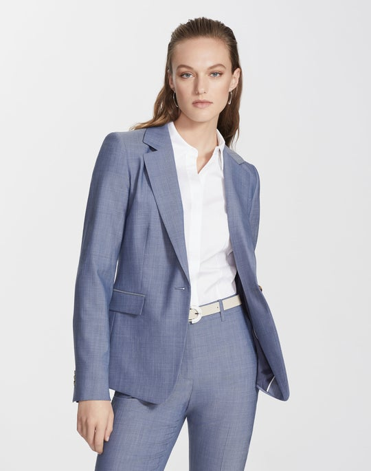 Plus-Size Nova Wool Trixie Blazer