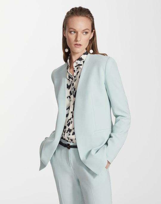 Plus-Size Finesse Crepe Miranda Jacket