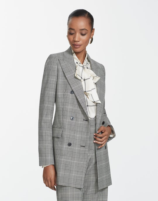Houndstooth Plaid Saxon Jacket