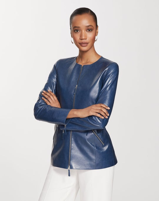 Lacquered Lambskin Roger Jacket
