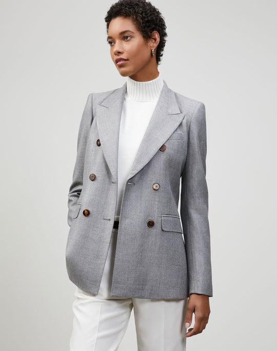 Timeless Italian Wool-Silk Suiting Chadwick Blazer