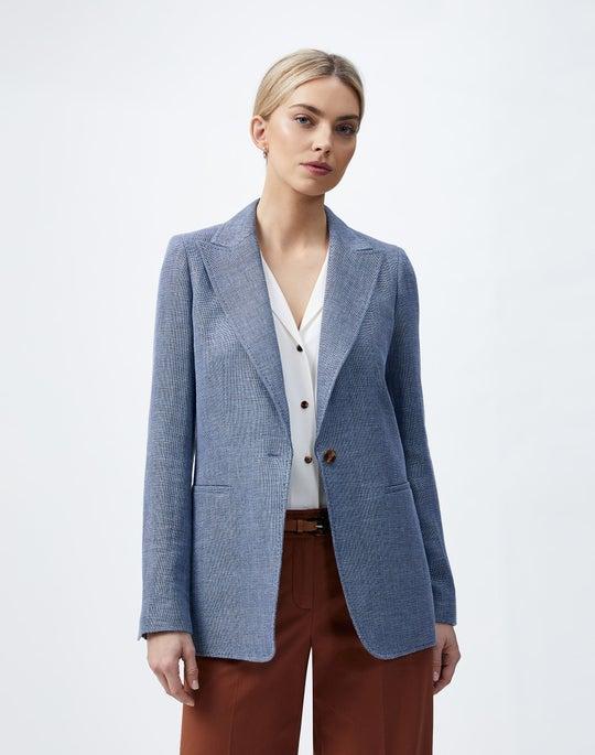 Italian Linen-Virgin Wool Hurley Blazer
