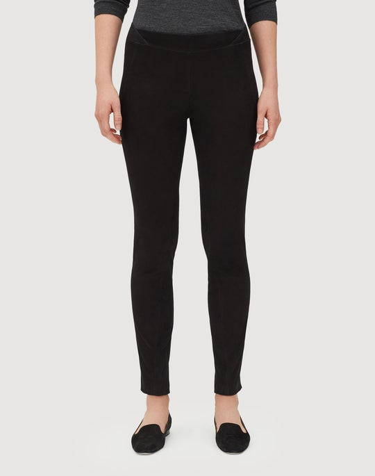 Petite Velvety Stretch Suede Brooklyn Pant