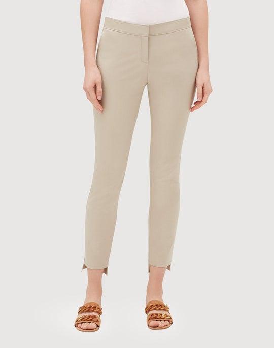 Plus-Size Fundamental Bi-Stretch Step Hem Manhattan Slim Pant