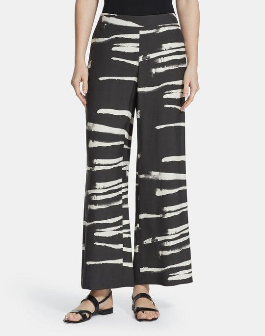 Painted Zebra Stripe On Drape Riverside Ankle Pant