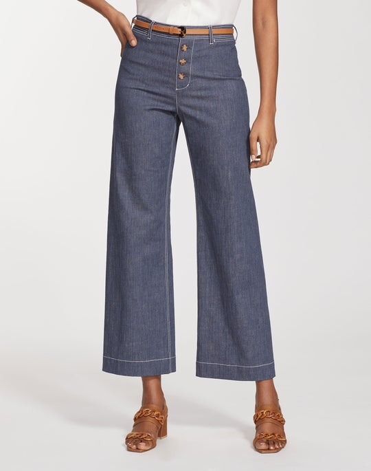 Retro Cotton Ankle Clark Pant