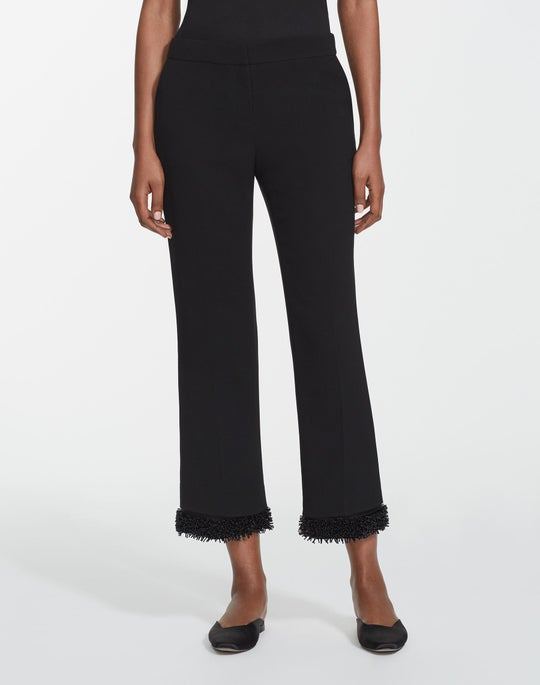 Finesse Crepe Ankle Manhattan Flare Pant