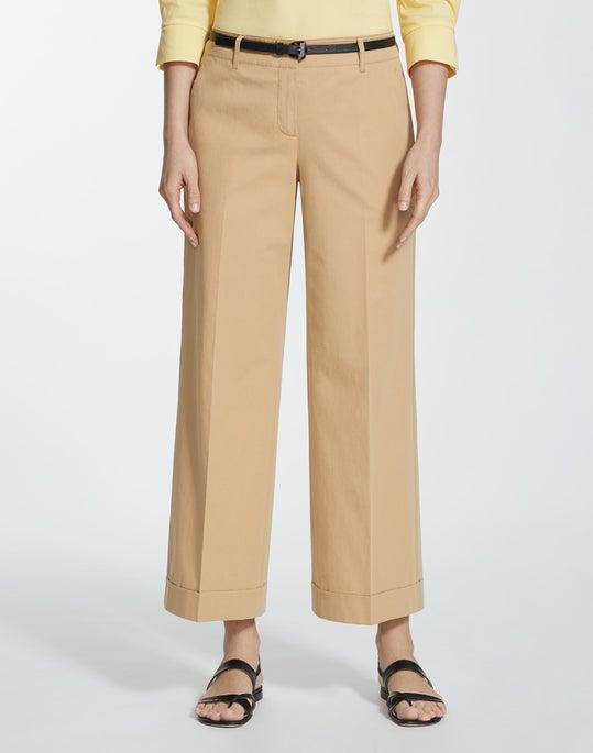 Italian Pima Cotton Bi-Stretch Cropped Broadway Pant