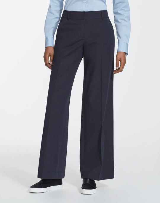 Petite Italian Bi-Stretch Pima Cotton Broadway Pant