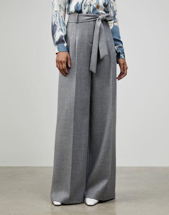 Euphoric Mélange Cloth Tillary Wide-Leg Pant