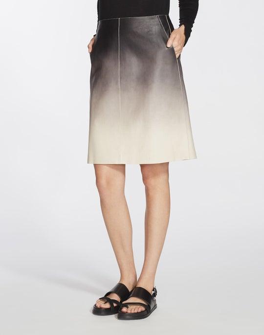 Ombré Lambskin Whitley Skirt