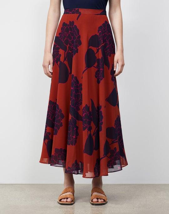 Mini Hydrangea Print Ambria Skirt