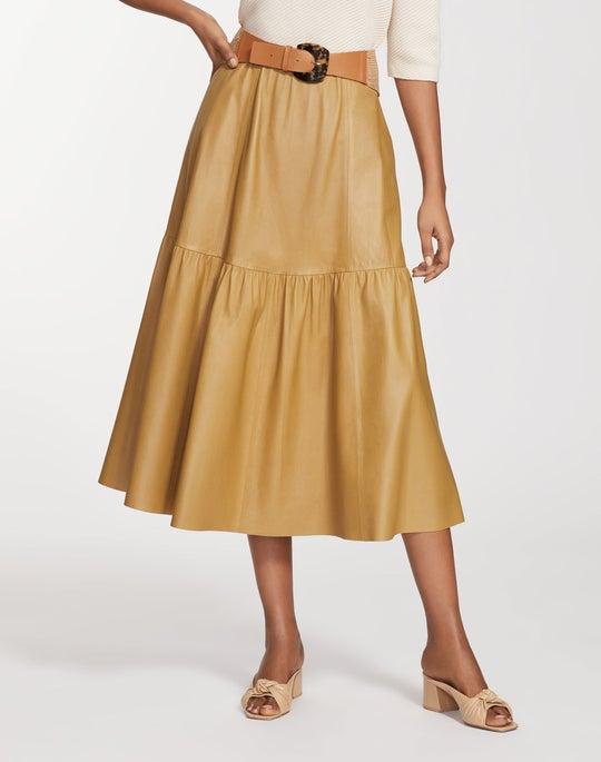 Supple Nappa Leather Safford Skirt