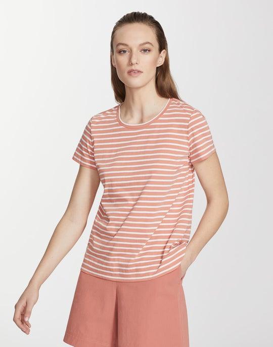 Plus-Size Modern Cotton Stripe Tee
