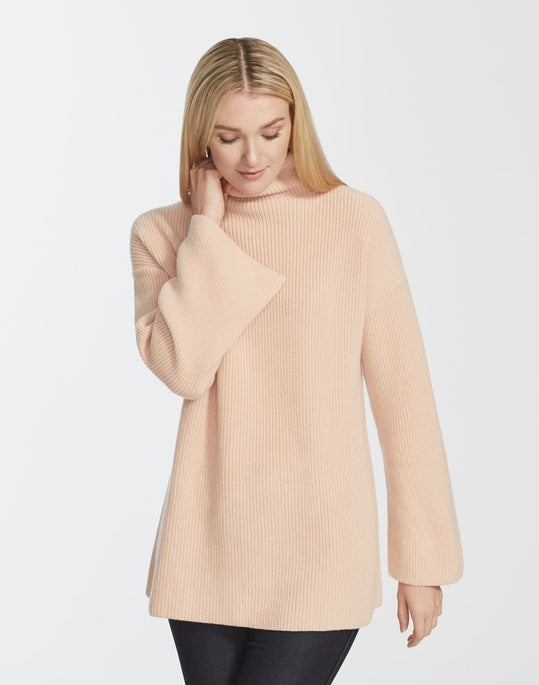 Cashmere Relaxed Mockneck Sweater