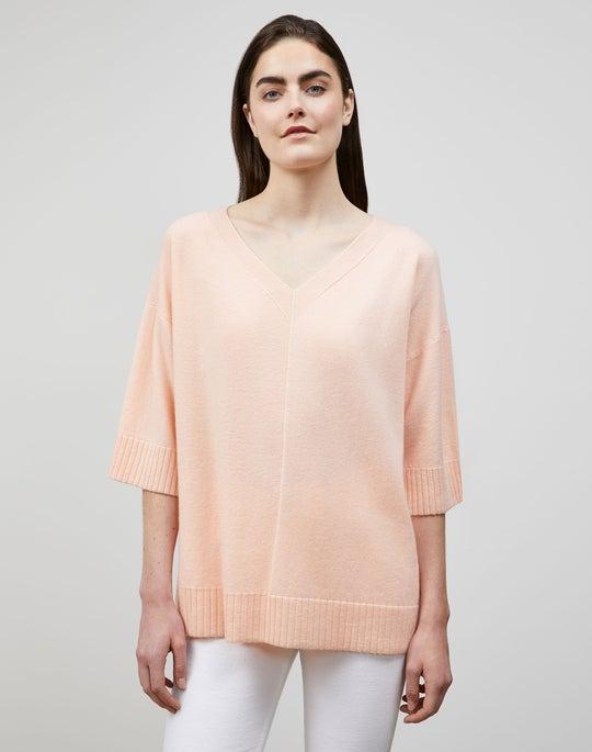 Cashmere Wide V Pullover