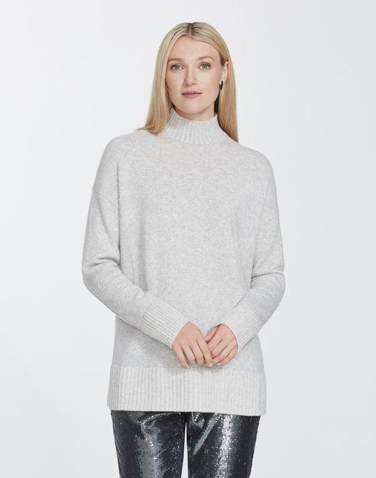 Petite Cashmere Stand Collar Sweater